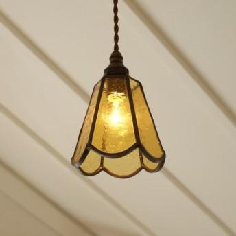 ステンドグラスのランプ Petite Fleur goldenrod (SG-03)