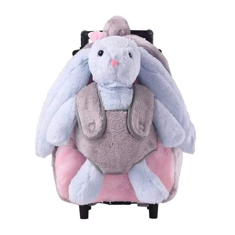 兒童玩具背包 - 小兔子拉桿背包 (絨毛款)