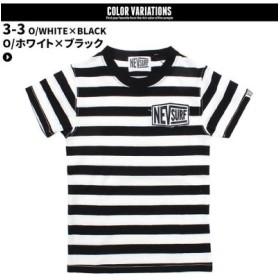 (NEXT WALL/ネクストウォール)メンズ NEV ボーダーTシャツ 半袖Tシャツ/メンズ ブラック系3