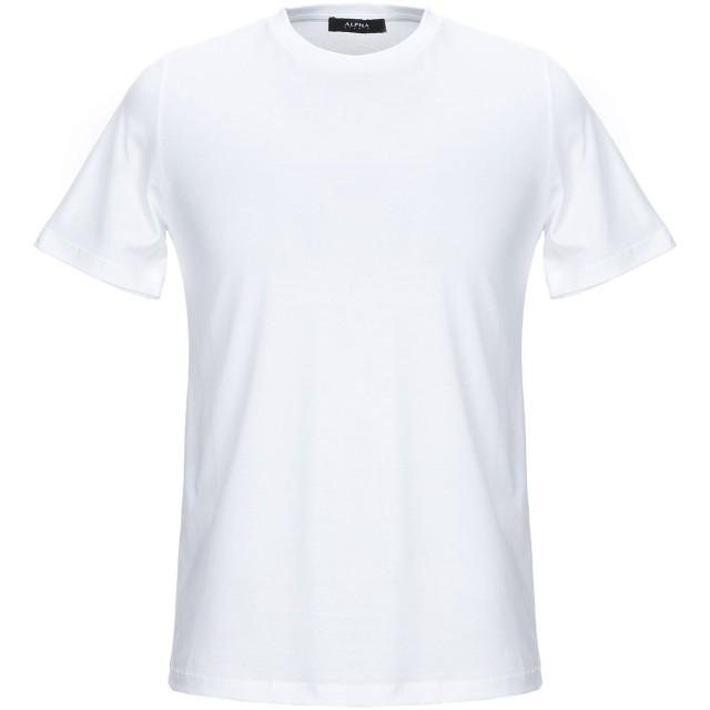 《期間限定セール開催中!》ALPHA STUDIO メンズ T シャツ ホワイト 46 コットン 100%