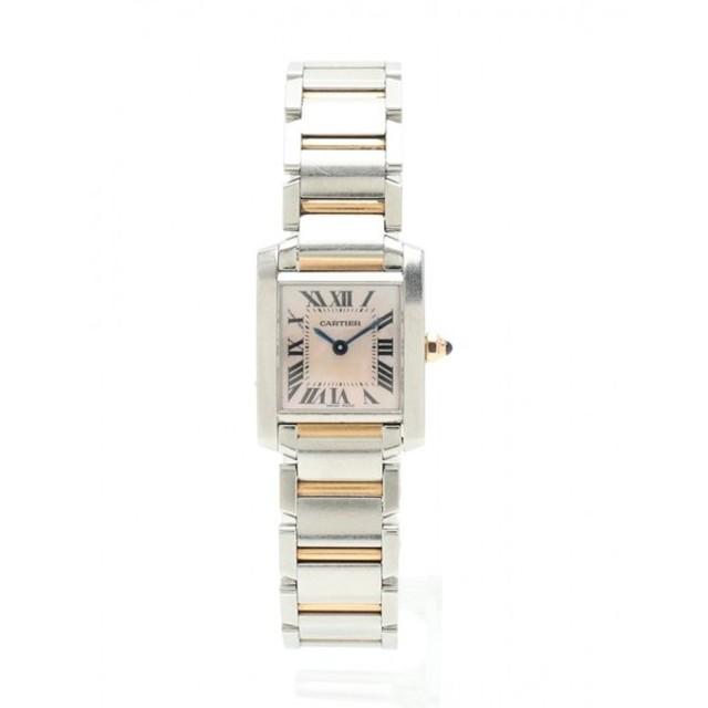 online store ea5cf 0894d 中古】カルティエ Cartier 腕時計 タンクフランセーズ SM PG ...