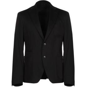 《期間限定セール開催中!》VERSACE COLLECTION メンズ テーラードジャケット ブラック 48 コットン 80% / レーヨン 18% / ポリウレタン 2%