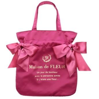 【メゾンドフルール/Maison de FLEUR】 ダブルリボントートバッグ