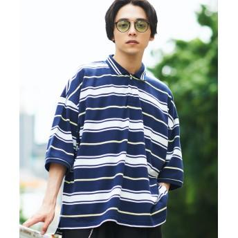 ポロシャツ - WEGO【MEN】 レトロボーダービッグポロシャツ(5) WE19SM06-M1305