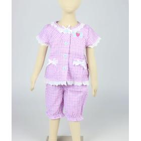 【オンワード】 Mother garden(マザーガーデン) 野いちご ガーゼ半袖パジャマ 90センチ 赤紫 衣類90 キッズ