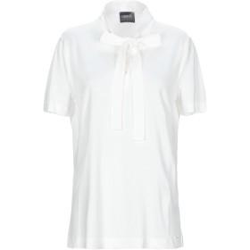 《期間限定セール開催中!》ARMANI JEANS レディース T シャツ ホワイト 50 レーヨン 60% / コットン 40%