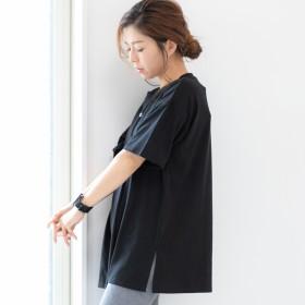 Tシャツ - LAPULE レディース ファッション ゆったり 30代 40代 春 夏 体形カバー トップス Tシャツ 刺繍 カジュアル シンプル オーバーサイズビッグT