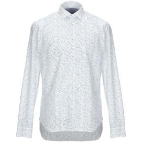《期間限定セール開催中!》MANUEL RITZ メンズ シャツ ホワイト 41 ポリエステル 65% / コットン 35%