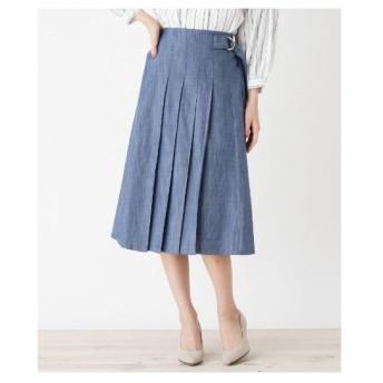 SHOO・LA・RUE(Ladies)(シューラルー(レディース))シャンブレー膝丈スカート