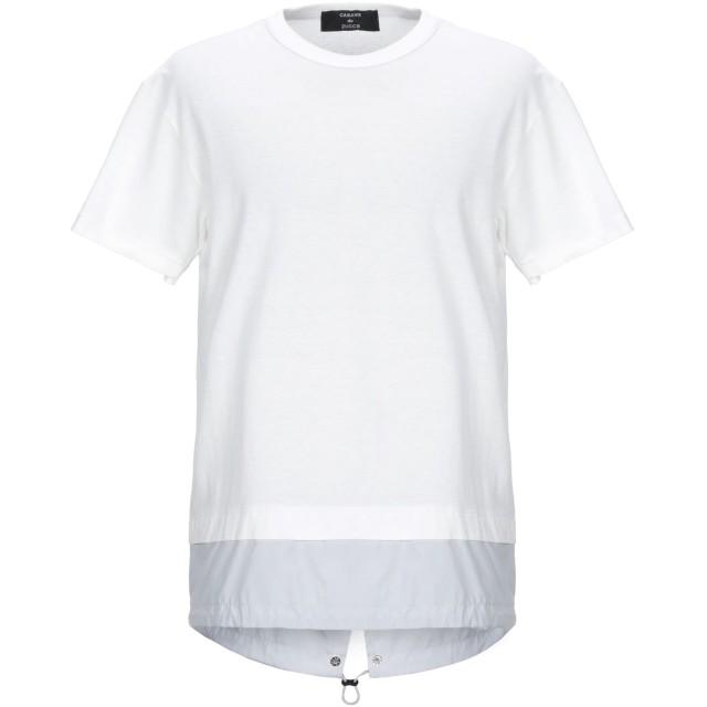 《期間限定セール開催中!》CABANE de ZUCCA メンズ T シャツ ホワイト M コットン 70% / レーヨン 30%