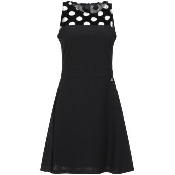 《セール開催中》SISTE' S レディース ミニワンピース&ドレス ブラック M ポリエステル 95% / ポリウレタン 5%
