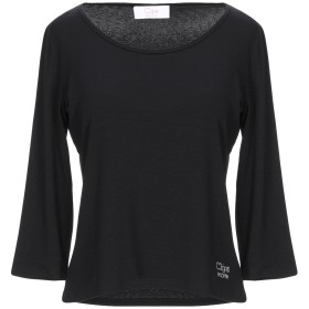 《9/20まで! 限定セール開催中》CLIPS MORE レディース T シャツ ブラック 44 レーヨン 95% / ポリウレタン 5%
