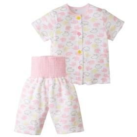 メッシュ前開き腹巻付き半袖パジャマ(男の子 女の子 ベビー服) 【ベビー服】