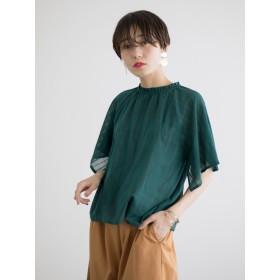 シャツ - koe ・シアーチェック衿フリルブラウス