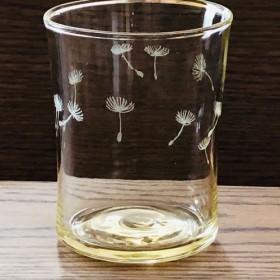 たんぽぽの綿毛グラス