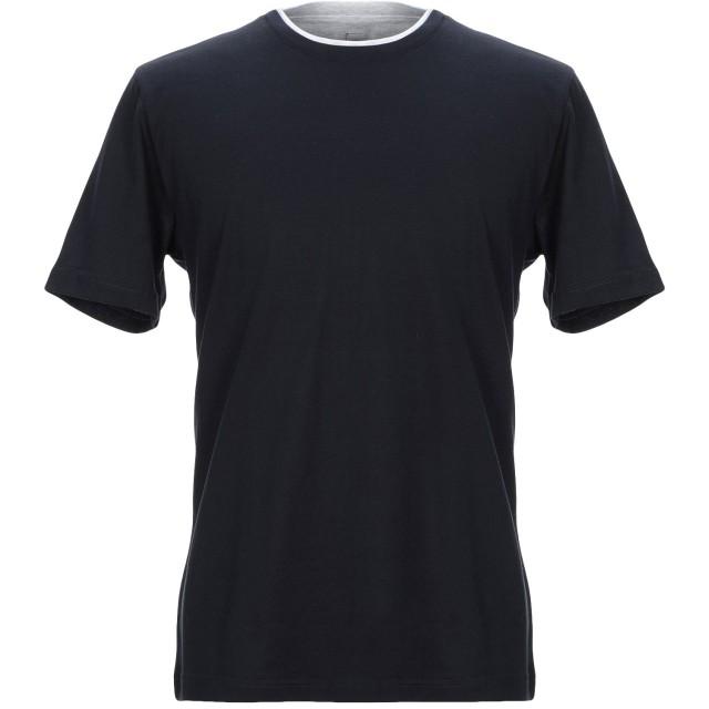 《セール開催中》ELEVENTY メンズ T シャツ ダークブルー S コットン 100%