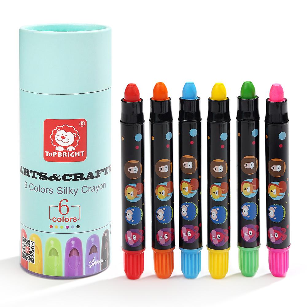 top bright 小小藝術家安全可水洗絲滑蠟筆-6色