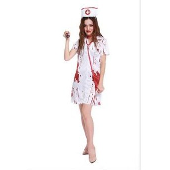 コスプレ衣装 看護婦 看護師 ハロウィン コスチューム 仮装 ナース 白衣 衣装 血塗れ ナース服 仮装 怖い ゾンビ 吸血鬼 悪魔 女性用 ワ