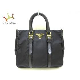 プラダ PRADA ハンドバッグ 美品 - BN1622 黒 ナイロン×レザー  値下げ 20190705