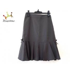 ギャラリービスコンティ スカート サイズ2 M レディース 美品 グレー タグ付き/リボン/プリーツ 新着 20190702