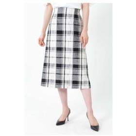 NATURAL BEAUTY(ナチュラルビューティー)◆[WEB限定商品]ビッグチェックロングタイトスカート