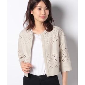アナイ リネン刺繍クルージャケット レディース ベージュ 36 【ANAYI】