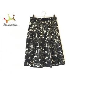 ランバンコレクション スカート サイズ36 S レディース 美品 黒×アイボリー プリーツ  値下げ 20190902