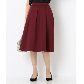 L size ONWARD(大きいサイズ) / エルサイズオンワード 【洗える】サイドバックルポイント スカート