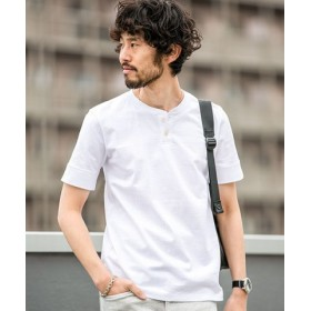 (nano・universe/ナノ・ユニバース)【WEB限定】 アメリカンコットンヘンリーネックTシャツ 半袖/メンズ ホワイト