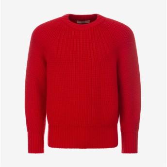Men'S Wool Sweater レッド