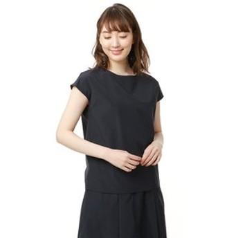 【洋服の青山:トップス】【セットアップ対応】【半袖】【ボートネック】ソフトブラウス