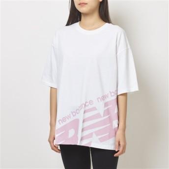 (NB公式)【ログイン購入で最大8%ポイント還元】 ウイメンズ NBアスレチックスボーイフレンドTシャツ (ホワイト) ライフスタイル ウェア / トップス ニューバランス newbalance