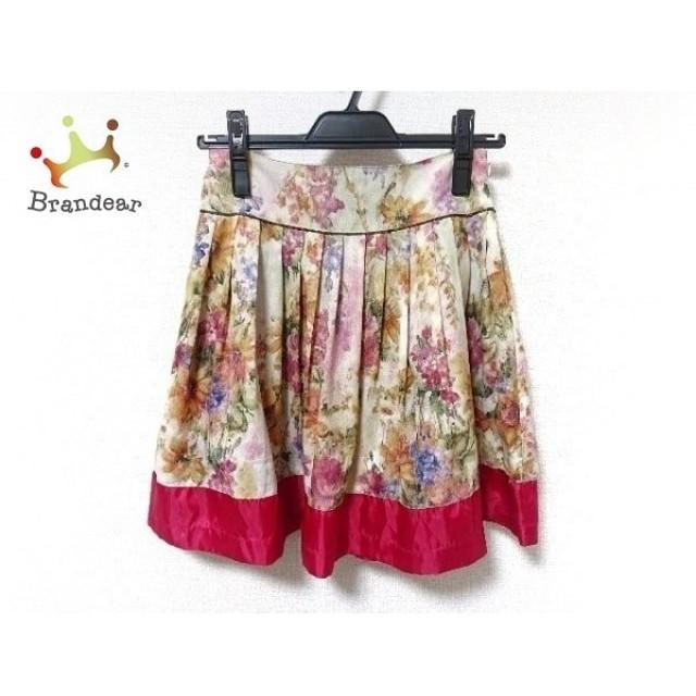 ロイスクレヨン Lois CRAYON スカート サイズM レディース アイボリー×ブルー×マルチ 花柄 新着 20190702