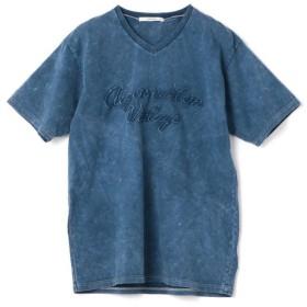 【40%OFF】 メンズビギ 刺繍Tシャツ メンズ ブルー M 【Men's Bigi】 【セール開催中】