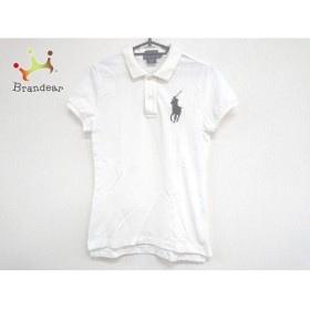 ラルフローレン RalphLauren 半袖ポロシャツ サイズM レディース 美品 ビッグポニー 白 新着 20190702