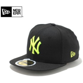 【メーカー取次】NEW ERA ニューエラ Kid's キッズ用 59FIFTY MLB ニューヨーク ヤンキース ブラックXネオンイエロー 11310409 キャップ 子供用 帽子 ブランド