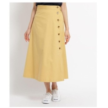 Dessin(Ladies)(デッサン(レディース))【洗える】【ウエスト後ろゴム】コットンストレッチボタンスカート