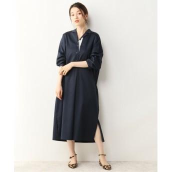 NOBLE 【ALANI the grey】ダブルタックシャツドレス ネイビー S