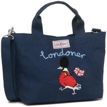 キャスキッドソン バッグ CATH KIDSTON 840552 EMBROIDERED MINI WEBBING CROSS BODY PIGEON GUARD PL01 レディース トートバッグ NAVY 紺