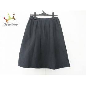 ランバンコレクション LANVIN COLLECTION スカート サイズ40 M レディース 美品 黒 花柄  値下げ 20190908