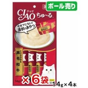 いなば CIAO(チャオ) ちゅ~る とりささみ&黒毛和牛 14g×4本 6袋 国産 キャットフード