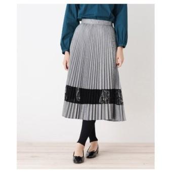 grove(グローブ)チェック×レースプリーツスカート