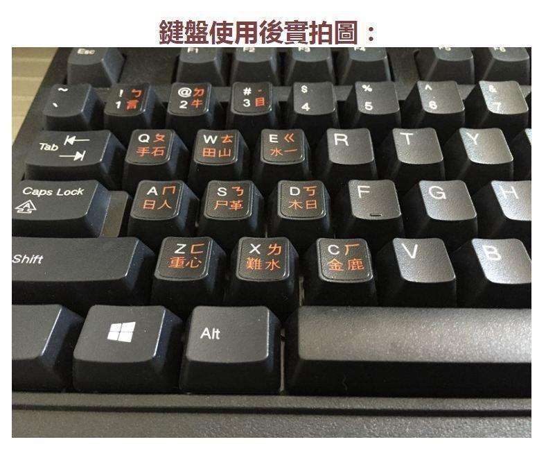 中文繁體鍵盤貼紙磨砂 高品質 中文 pc個人電腦 nb筆記型電腦 平板 小筆電 通用注音貼紙ss