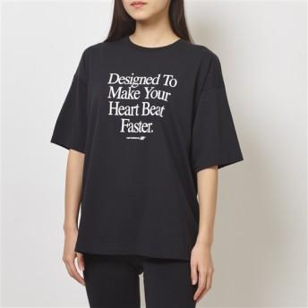 (NB公式)【ログイン購入で最大8%ポイント還元】 ウイメンズ NBアスレチックスアーカイブハートTシャツ (ブラック) ライフスタイル ウェア / トップス ニューバランス newbalance
