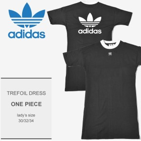 ADIDAS アディダス オリジナルス ロングTシャツ TREFOIL DRESS DH3184 レディース