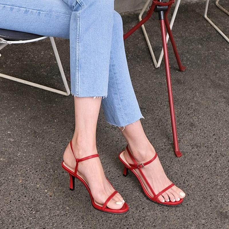 [SAPPUN官方旗艦店]Cernil釦帶高跟涼鞋(7cm)