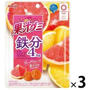 明治 果汁グミ 鉄分 グレープフルーツ 1セット(3個)