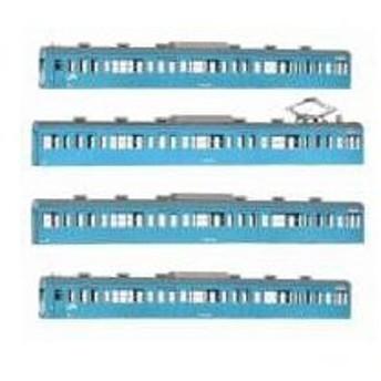18009 国鉄(JR)103系〈低運・非ユニット窓・冷改車・スカイブルー〉 基本4両編成ボディキットA(再販)[グリーンマックス]《発売済・在庫品》