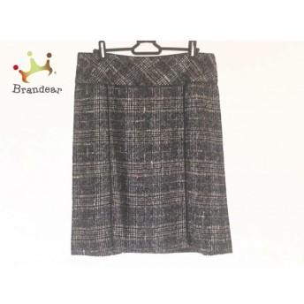 ジユウク 自由区/jiyuku スカート サイズ46 XL レディース 美品 黒×白×マルチ チェック柄 スペシャル特価 20190915