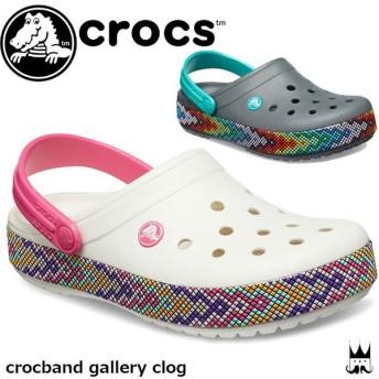 クロックス crocs レディース クロッグサンダル 205166 クロックバンド ギャラリー クロッグ コンフォートサンダル アクアサンダル